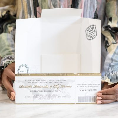 Luxury Wedding invitation for destination wedding