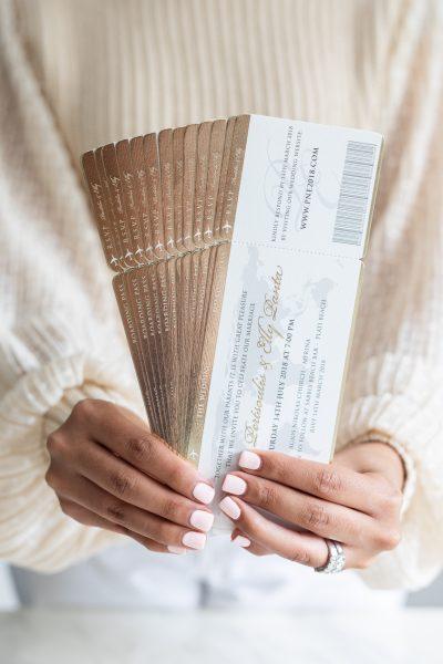 Elegant wedding invitation for destination wedding