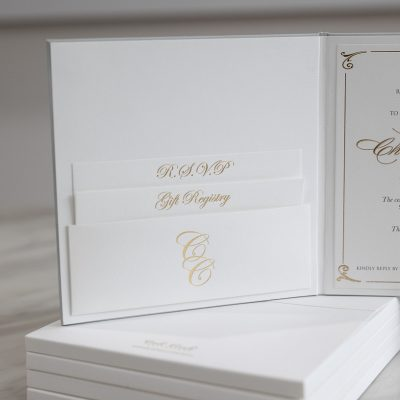 Wedding invitations for a classic and elegant wedding