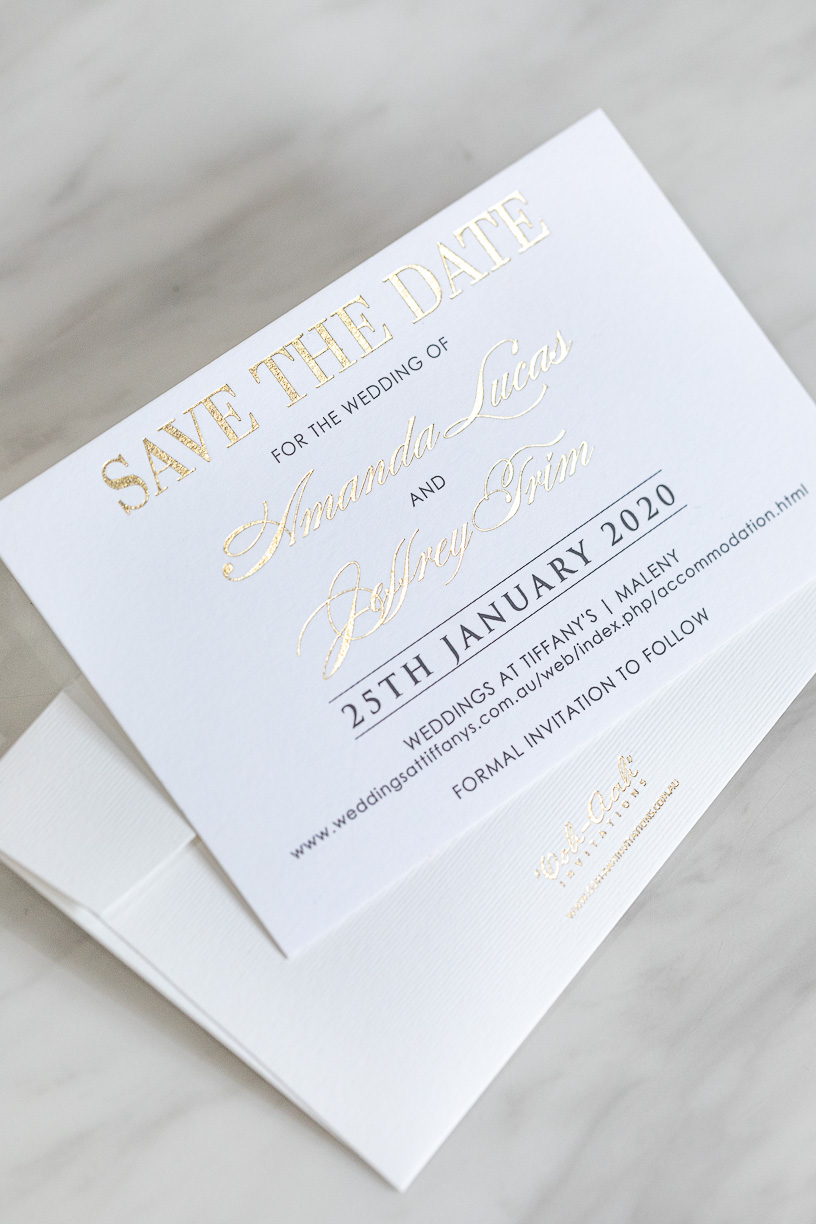 Modern and Elegant Save the Date Card