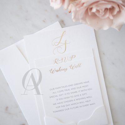 Wedding Invitation Pocket holder for RSVP card
