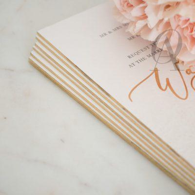 Marble and Gold Foil Wedding Invitations Premium Board