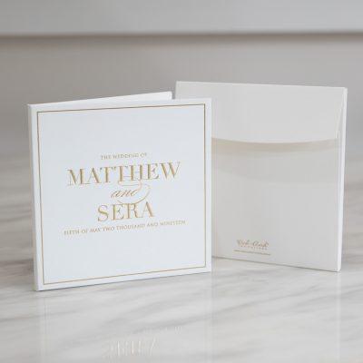Minimalistic elegant wedding invitation