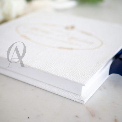 PRADA Luxury boxed wedding invitation with gold foil
