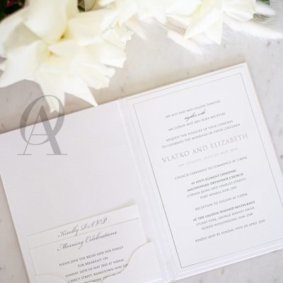 Wedding Invitation Booklet with Pocket and Wedding Enclosure Cards