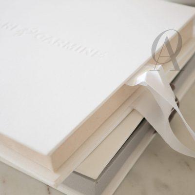 Luxury box wedding invitations modern letterpress