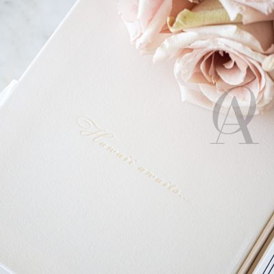 Letterpress wedding invitations simple modern box
