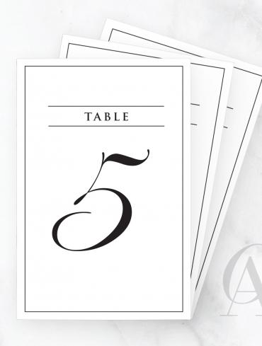 TN03 SCRIPT NUMBERS BORDER TABLE HEADING