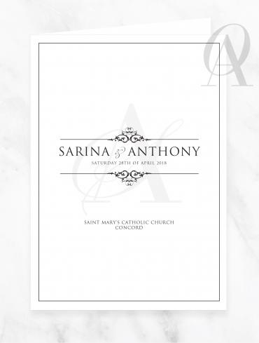 CBDP02 SARINA & ANTHONY CHURCH BOOK COVER DIGITAL PRINT