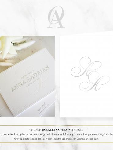 CBSF01 ANNA & ADRIAN CHURCH BOOK COVER SILVER FOIL