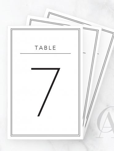 TN04 MODERN BLOCK FONT DOUBLE BORDER TABLE HEADING