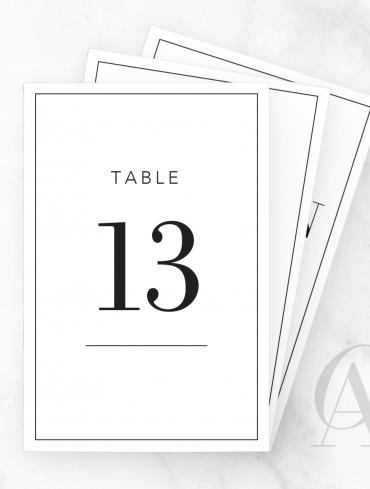 TN06 BODONI FONT NUMBERS DIGITS BORDER TABLE HEADING