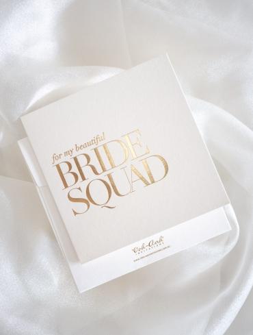 BRIDE SQUAD CARD IVORY