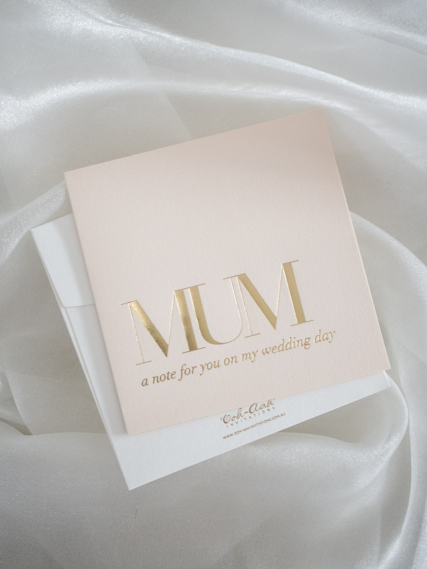 Mother of the bride or groom gift card
