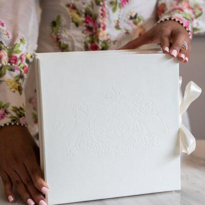 Luxury boxed wedding invitation for royal Indian wedding