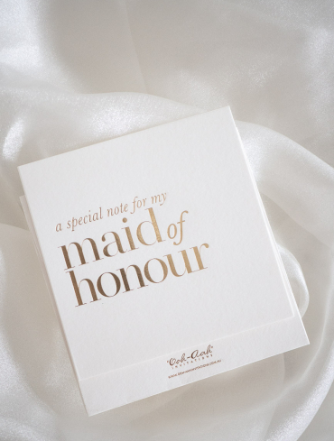 A SPECIAL NOTE – MAID OF HONOUR