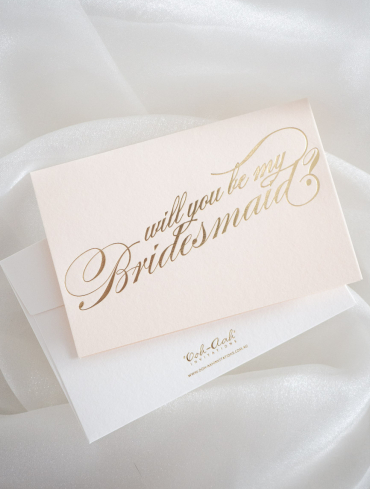 WILL YOU BE MY BRIDESMAID – LIGHT BLUSH