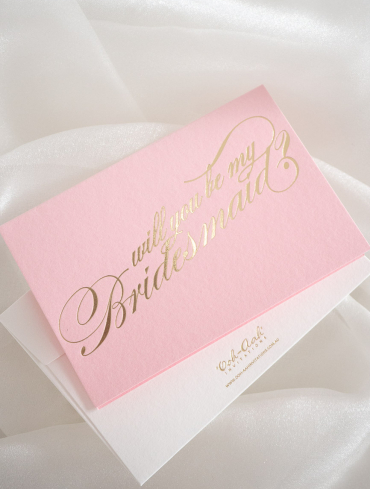 WILL YOU BE MY BRIDESMAID – PINK