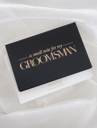 A SMALL NOTE FOR MY GROOMSMAN – BLACK