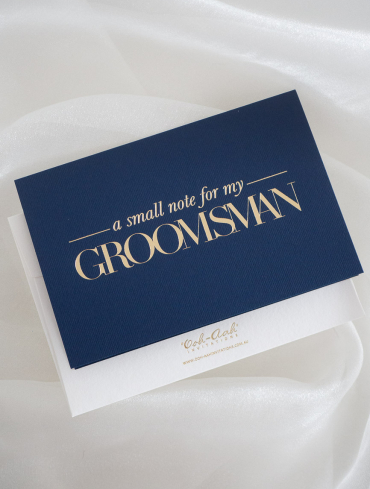 A SMALL NOTE FOR MY GROOMSMAN – NAVY